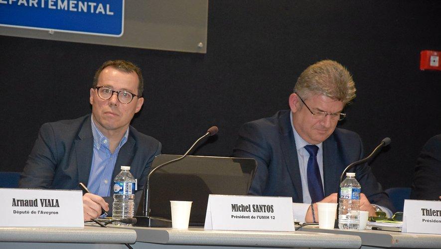 Michel Santos, président de l'Umih 12, dimanche à Rodez.