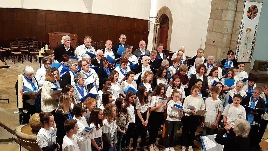 Le concert s'est dérouléen l'église d'Entraygues.