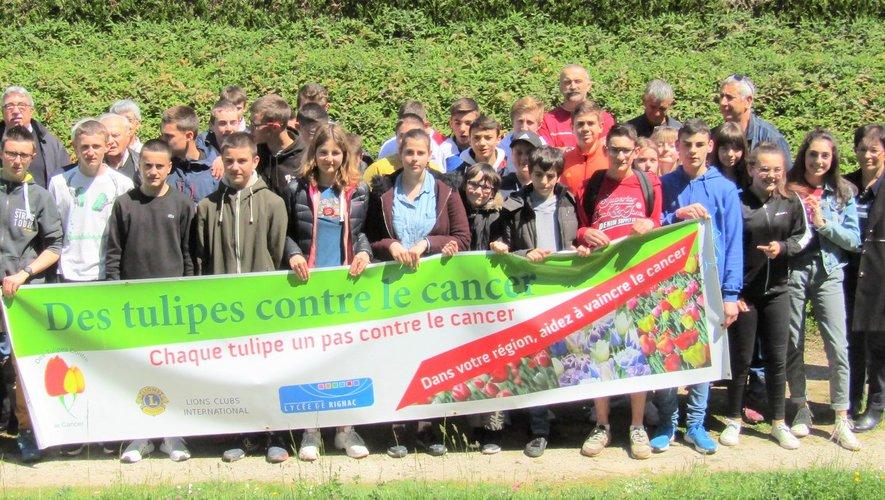 Les visiteurs pourront découvrir l'implication du lycée dans l'opération « Tulipes contre le cancer » conduite par le Lions club de Decazeville – Cransac.