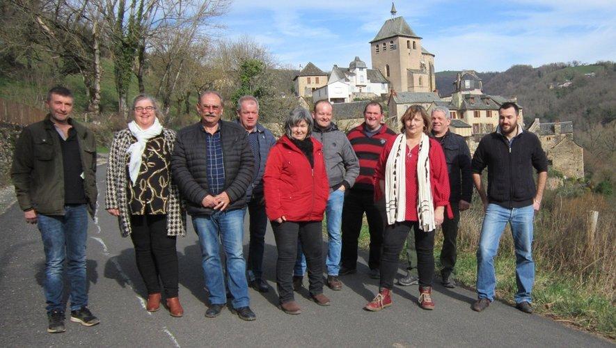Les candidats de la liste « Ensemble pour Coubisou » (absent sur la photo Denis Bouldoires).