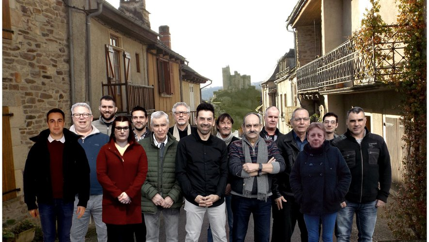 Les quinze colistiers de« Najac, une équipe, un projet ».