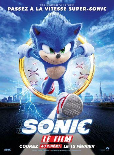"POSTER : ""Sonic, le film"" De Jeff Fowler Avec Jim Carrey, James Marsden, Tika Sumpter"