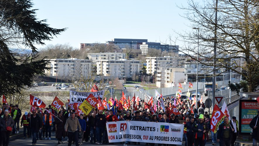 Le cortège a défilé de Bourran au centre-ville de Rodez.