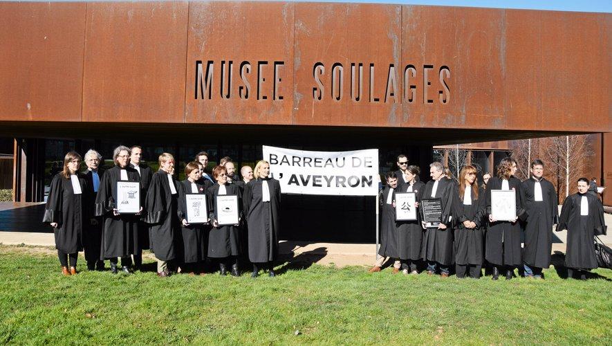 Les  avocats du barreau de l'Aveyron sont  mobilisés depuis sept semaines contre le projet de la réforme des retraites.