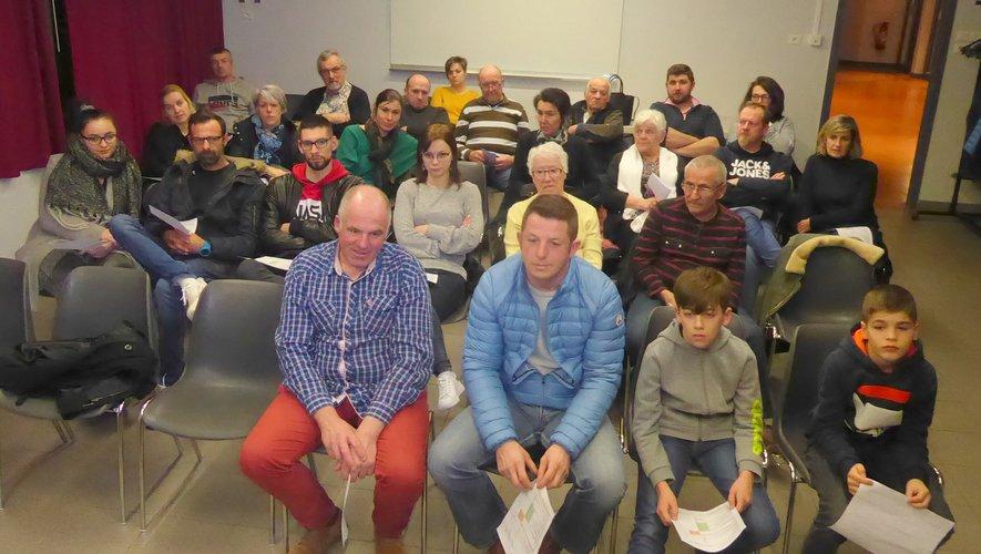 Les commerçants et artisans lucois participant à cette assemblée générale.