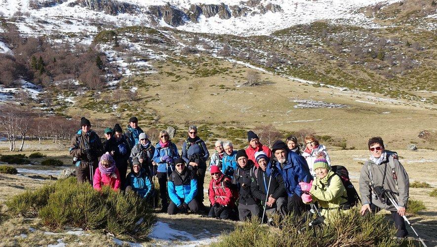 Les randonneurs ont découvert les magnifique paysages de la région des volcans.