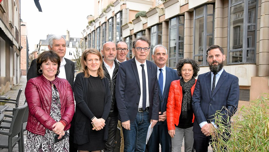 L'équipe de Christian Teyssèdre, à la défense  de son projet « Bourran II »  qui a suscité le débat tout  au long de la semaine.