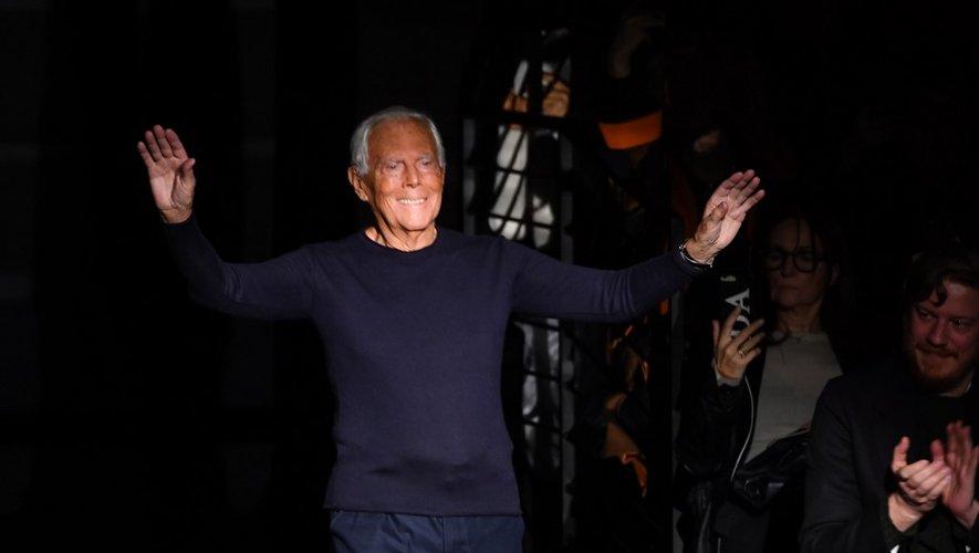 La semaine de la mode milanaise s'est achevée dimanche avec le défilé du maestro Giorgio Armani.