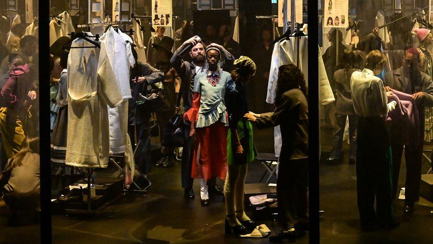 Gucci a dévoilé les backstages de son show lors de la présentation de sa collection automne-hiver 2020. Milan, le 19 février 2020.