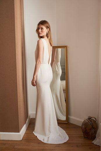 Une des robes de mariée issues de la collaboration La Redoute x Balzac Paris.