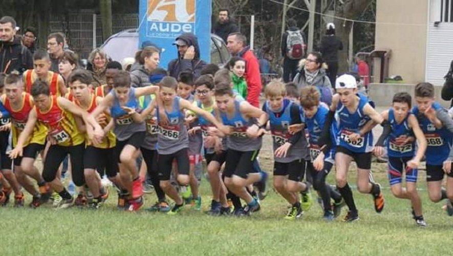 L'équipe Aveyron garçons sur la ligne de départ.