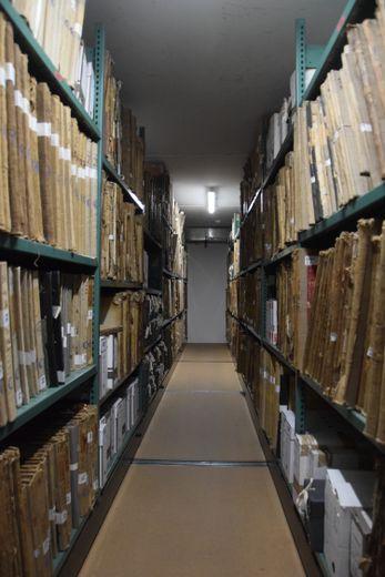 L'équipe compte 18 personnes, dont 12 archivistes.
