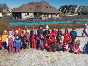 La quasi-absence de neige n'a en rien altéré le plaisir des enfants.