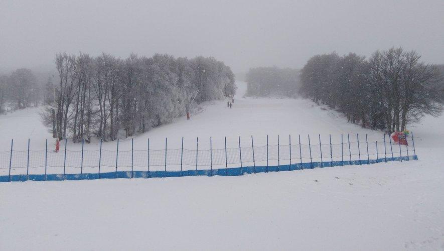 Enfin de la neige à la station de Laguiole.