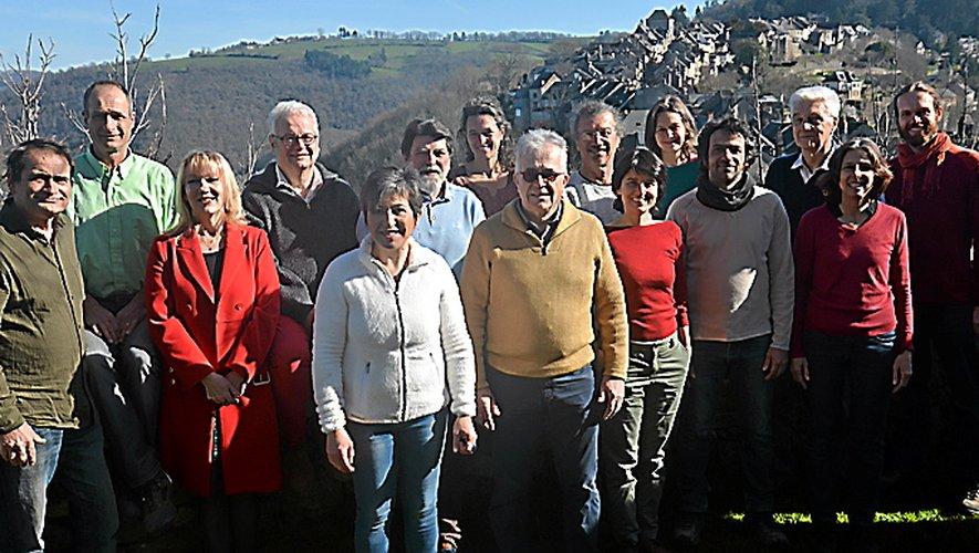 Les membres de la liste« Najac ensemble ».