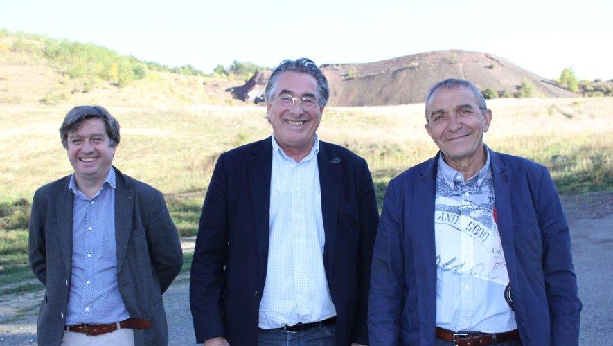 Stephane Fory, Jean-François Bigot (président de Solena) et Marc Sévigné.