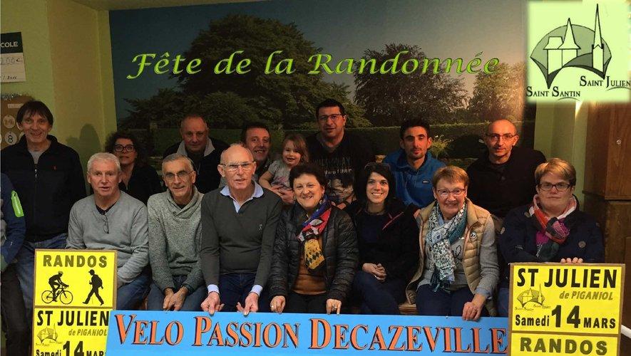 Une partie des membres de Vélo Passion.