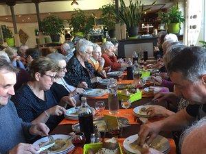 Les Aînés ont partagé un bon repas
