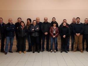 L'équipe «Ensemble pour la commune de Montpeyroux ».