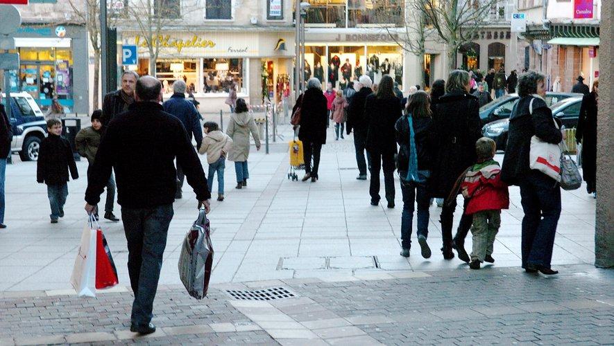Les centres-villes, comme celui de Rodez, sont tous affectés par la consommation en ligne.