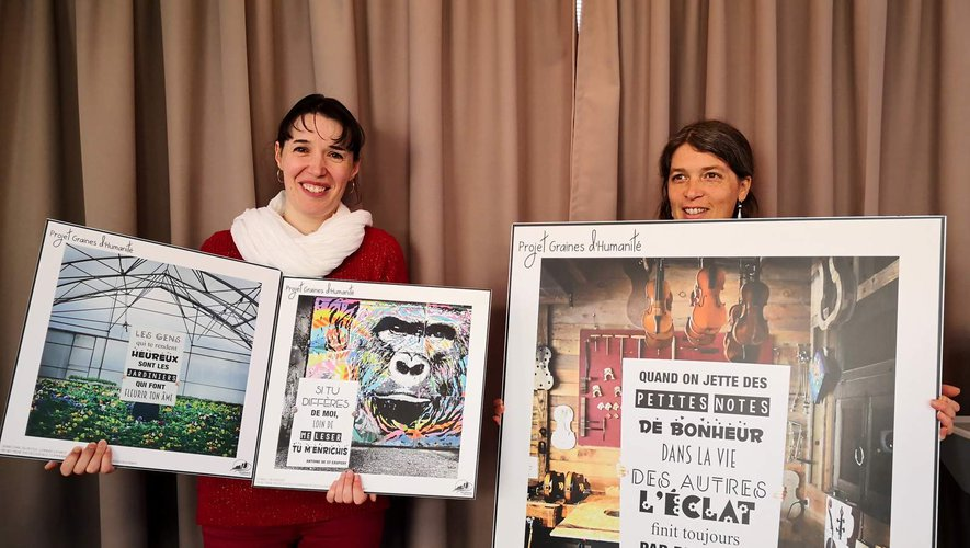 Les œuvres singulières de l'exposition Graines d'humanité sont en vente dans les offices de tourisme de Decazeville et de Cransac.