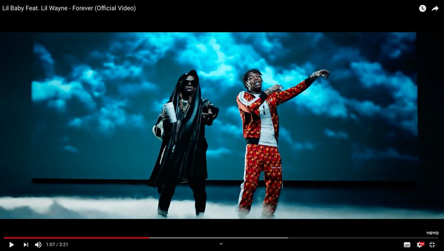 CAPTURE: Lil Baby Feat. Lil Wayne - Forever (Official Video) on youtube