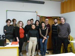 Des élèves de la section Euro et leurs professeurs, Bérangère Ciliberti, Emmanuel Bricourt et Laurent Couderc.