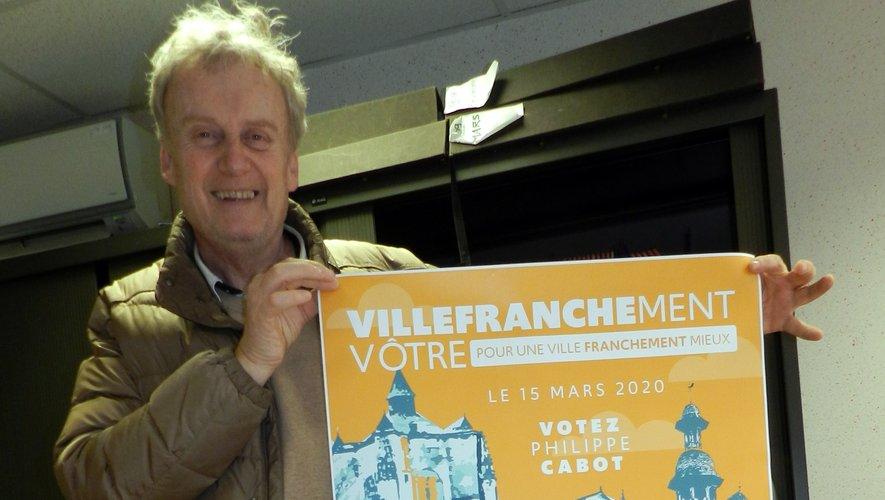 L'affiche, originale, de campagne de Philippe Cabot.