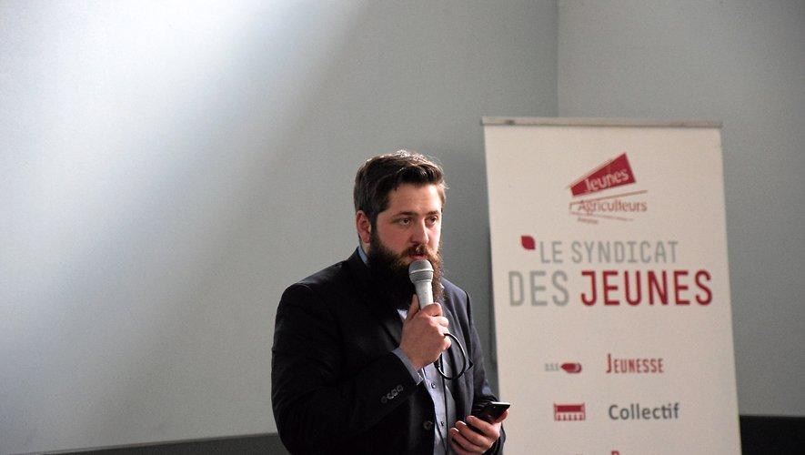 Anthony Quintard  vit sa dernière année à la tête  des JA de l'Aveyron.