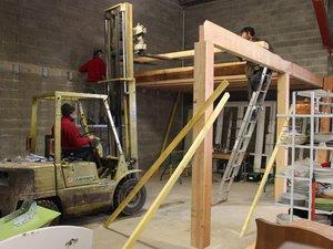 Grâce à l'implication de bénévoles professionnels, le nouvel atelier  va bientôt être fonctionnel.