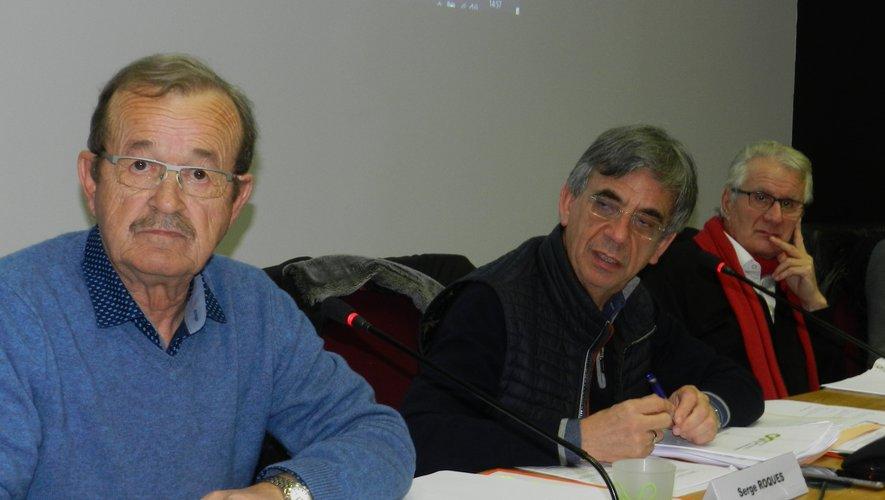 Dernier conseil de communauté de communes pour Bernard Vidal, Serge Roques et Pierre Costes.