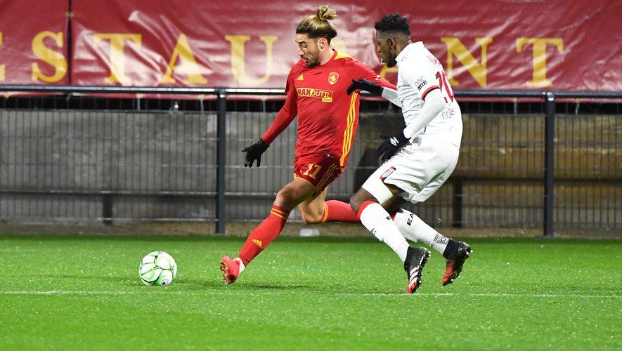 Ugo Bonnet a inscrit les deux buts de la victoire de Rodez