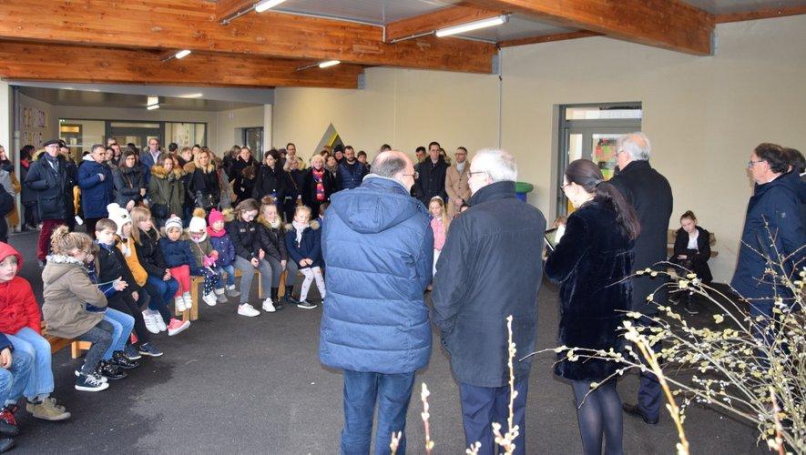 Tout le monde était là pour l'inauguration par l'évêque de Rodez et de Vabres.