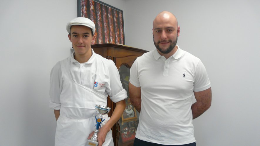 Maxime Capelle avec Guillaume Serin.