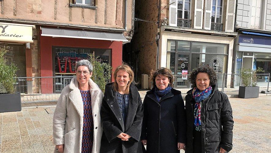 Maryline Crouzet, Sarah Vidal, Monique Bultel-Herment et Martine Bezombes.