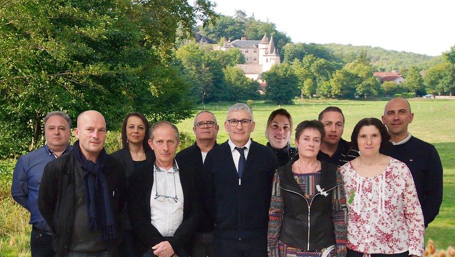 J. Cazeles, C. Evrard, L. Laville, Ch. Maury, J. Gasc, P. Darpeix, C. Carles, R. Labro, R. Vernhes, C. Hermet, P. Camisar.