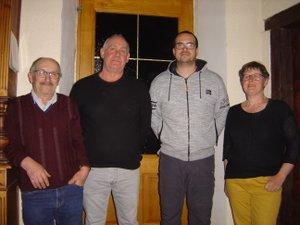 De droite à gauche : Han Coolen, Kévin Pagés, Bernard Cazottes, Jean-Louis Bec.