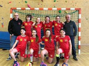 L'équipe féminine des moins de 13 ans.