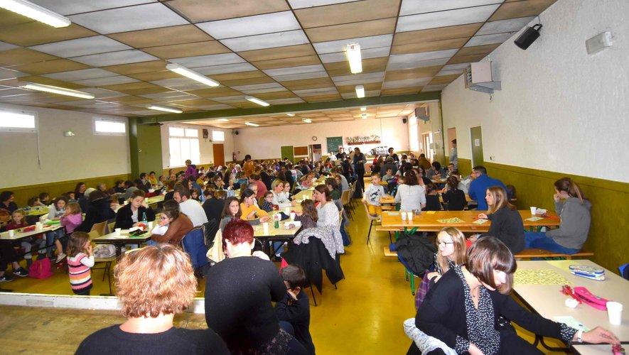 L'assistance au quine de l'APE des écoles de Saint-Martin-Pierrefiche.