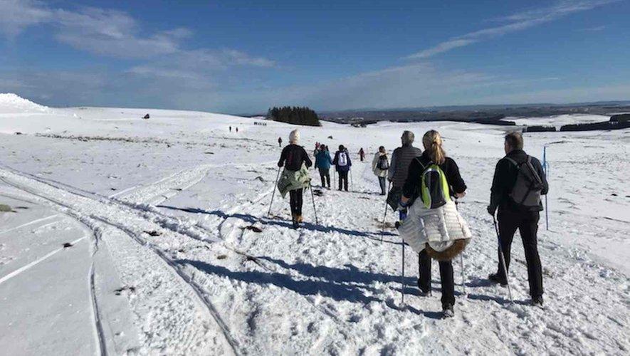 Au départ de Brameloup, 800 personnes ont effectué une boucle de 18 kilomètres à pied ou en raquettes.