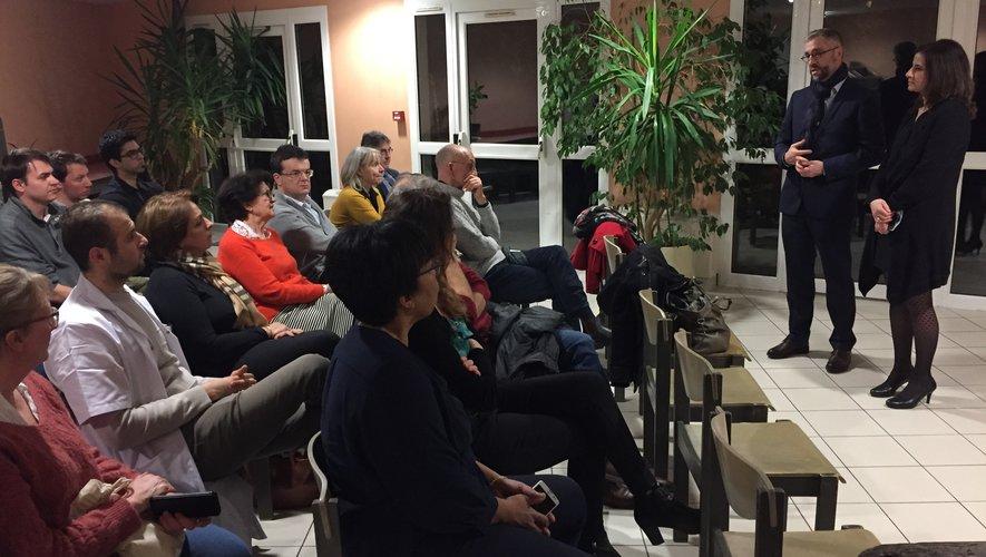 Vincent Prevoteau et Christelle Dumoulin ont animé cette rencontre avec les médecinsdu territoire.