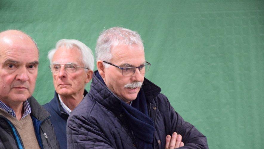 Vincent Alazard lors du dépouillement du scrutin.