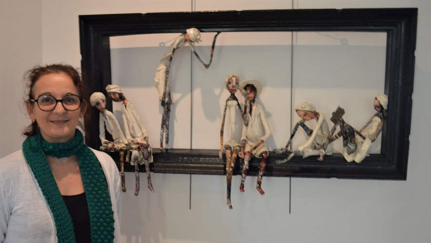 L'atelier Pierre et Marie Sa et ses ravissantes sculptures en papier mâché. Ci-dessous Florian Melloul et ses portraits.