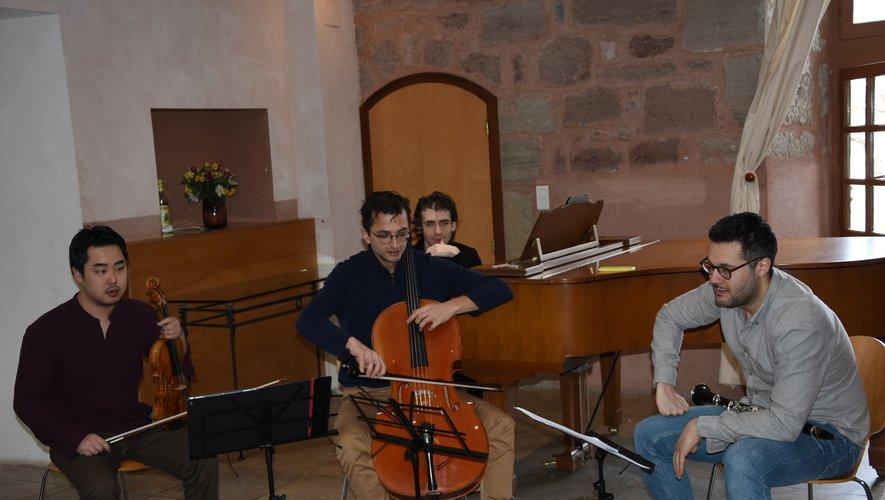 Un quatuor qui a eu plaisirà partager sa passionpour la musique.