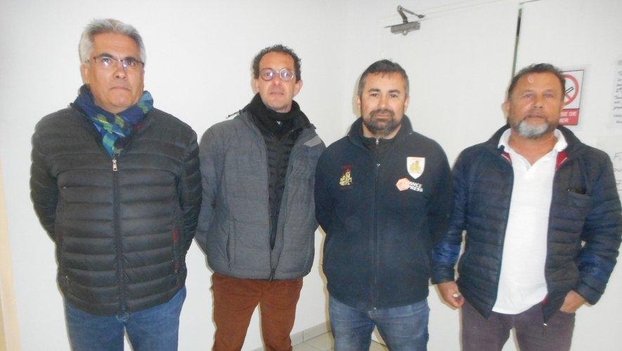De gauche à droite : Texeira, Granier, Martins et Bauer.