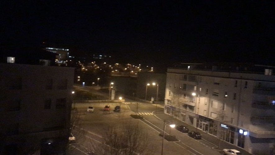 Mercredi soir à Rodez.