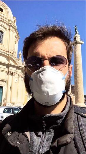 Le Decazevillois Marc-Henri Maisonhaute, dans les rues désertes de Rome.