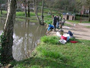 À Passlaygues, les pêcheurs étaient présents.
