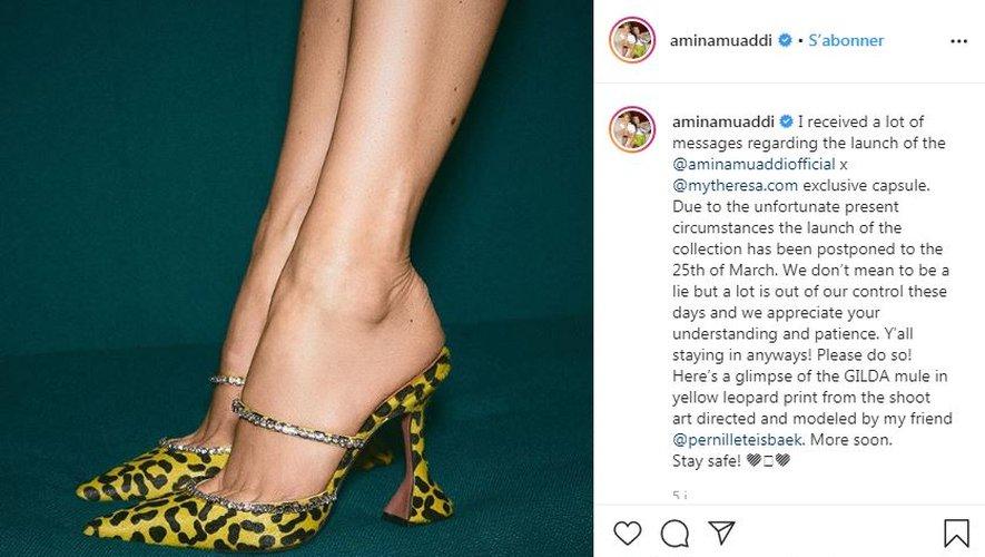 La créatrice de chaussures Amina Muaddi s'est associée à MyTheresa.com pour proposer une collection exclusive.