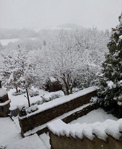 Pont-de-Salars sous la neige. (alt. 750m)